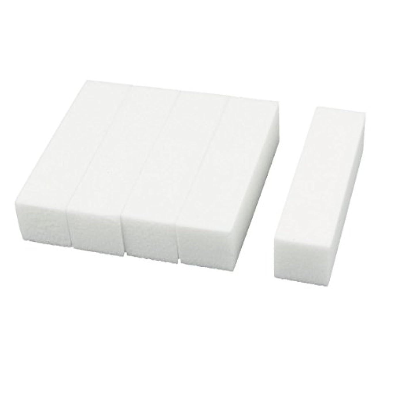 アストロラーベ不健全役に立たないuxcell ネイルファイル サンディングブロック ヒント マニキュアツール バッファ ホワイト 4ウェイ 5個セット