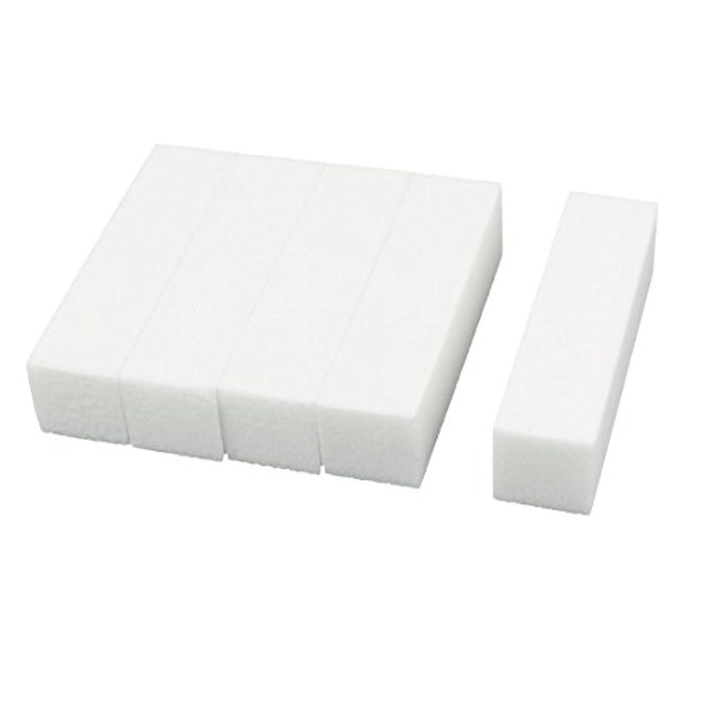 必要合図おしゃれじゃないuxcell ネイルファイル サンディングブロック ヒント マニキュアツール バッファ ホワイト 4ウェイ 5個セット