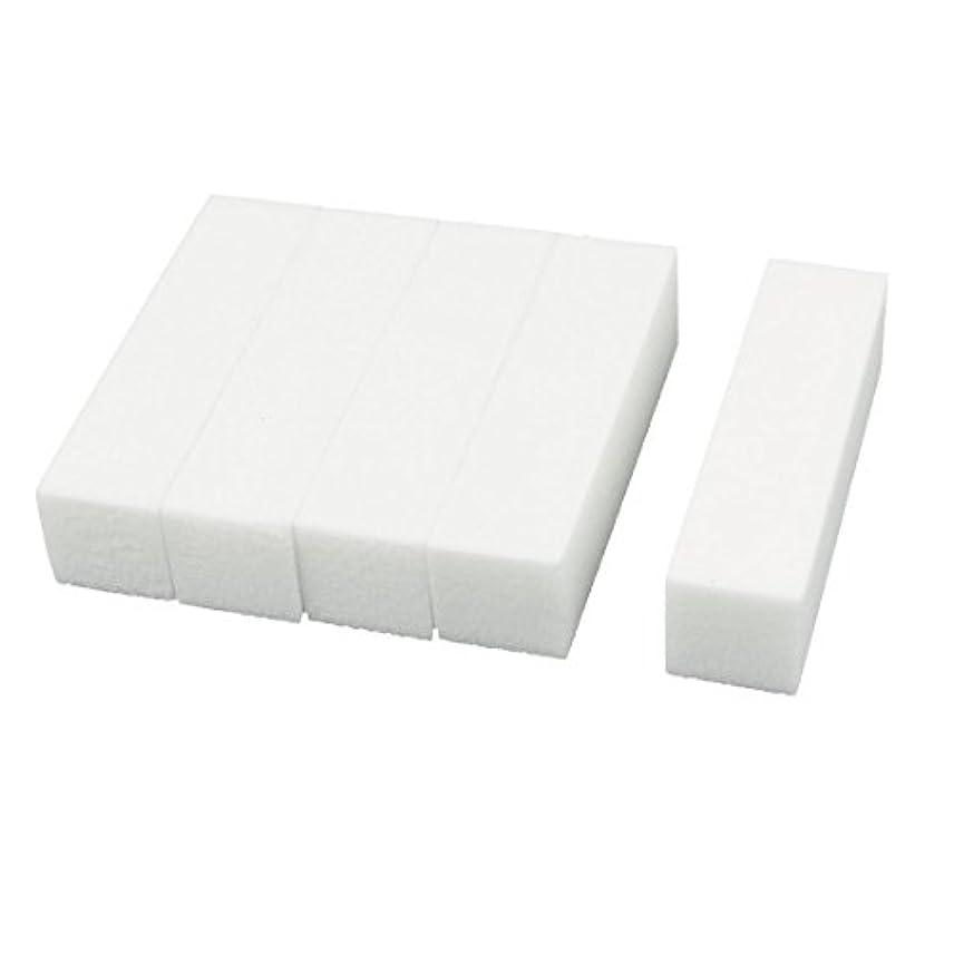 純正部分的にはいuxcell ネイルファイル サンディングブロック ヒント マニキュアツール バッファ ホワイト 4ウェイ 5個セット
