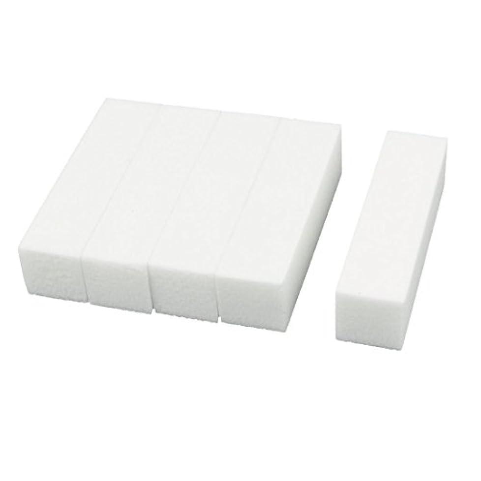 買う話をする嫌がるuxcell ネイルファイル サンディングブロック ヒント マニキュアツール バッファ ホワイト 4ウェイ 5個セット