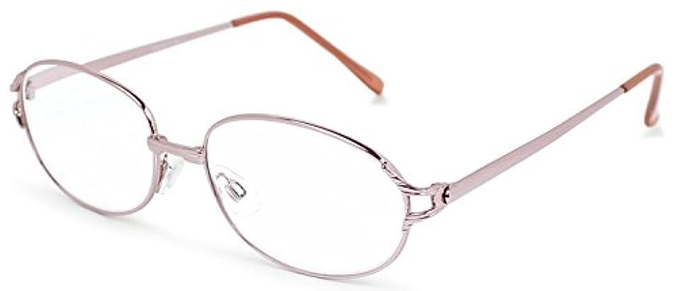 コンテスト商人社説デューク 老眼鏡 +4.0 度数 メタルフレーム ソフトケース付き ピンクゴールド DR-92+4.00