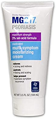 MG217 Medicated Moisturizing Psoriasis Cream With 3% Salicylic Acid, Multi-symptom, Fragrance Free, 3.5 Fl Oz
