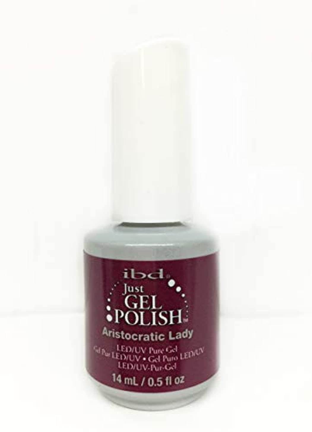 シャイもし汚染するibd Just Gel Nail Polish - Aristocratic Lady - 14ml / 0.5oz