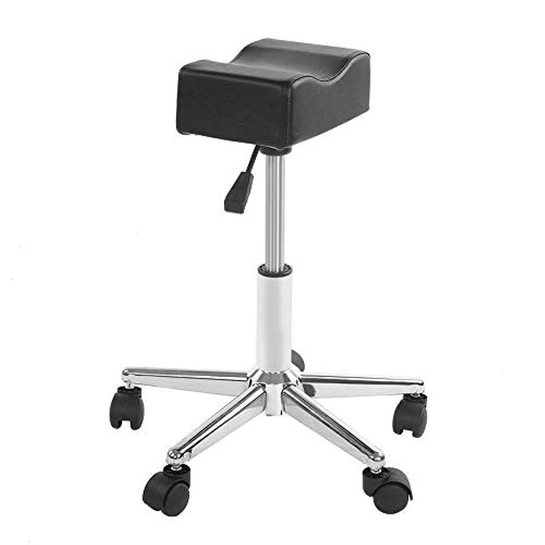 肘掛け椅子腹痛頻繁にペディキュアチェア、レッグレストフットレストフットケアペディキュアネイルスツールステーション可動ホイール付きマニキュアタトゥーフットフットレスト、ネイルサロン用の高さ調節可能なレッグレストチェア、ペディキュアスパ