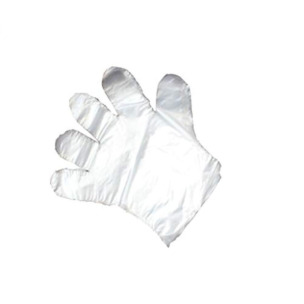 皮病者スプリット手袋、使い捨て手袋、透明な肥厚、美しさ、家庭掃除、手袋、白、透明、5パック、500袋。 (UnitCount : 1000)