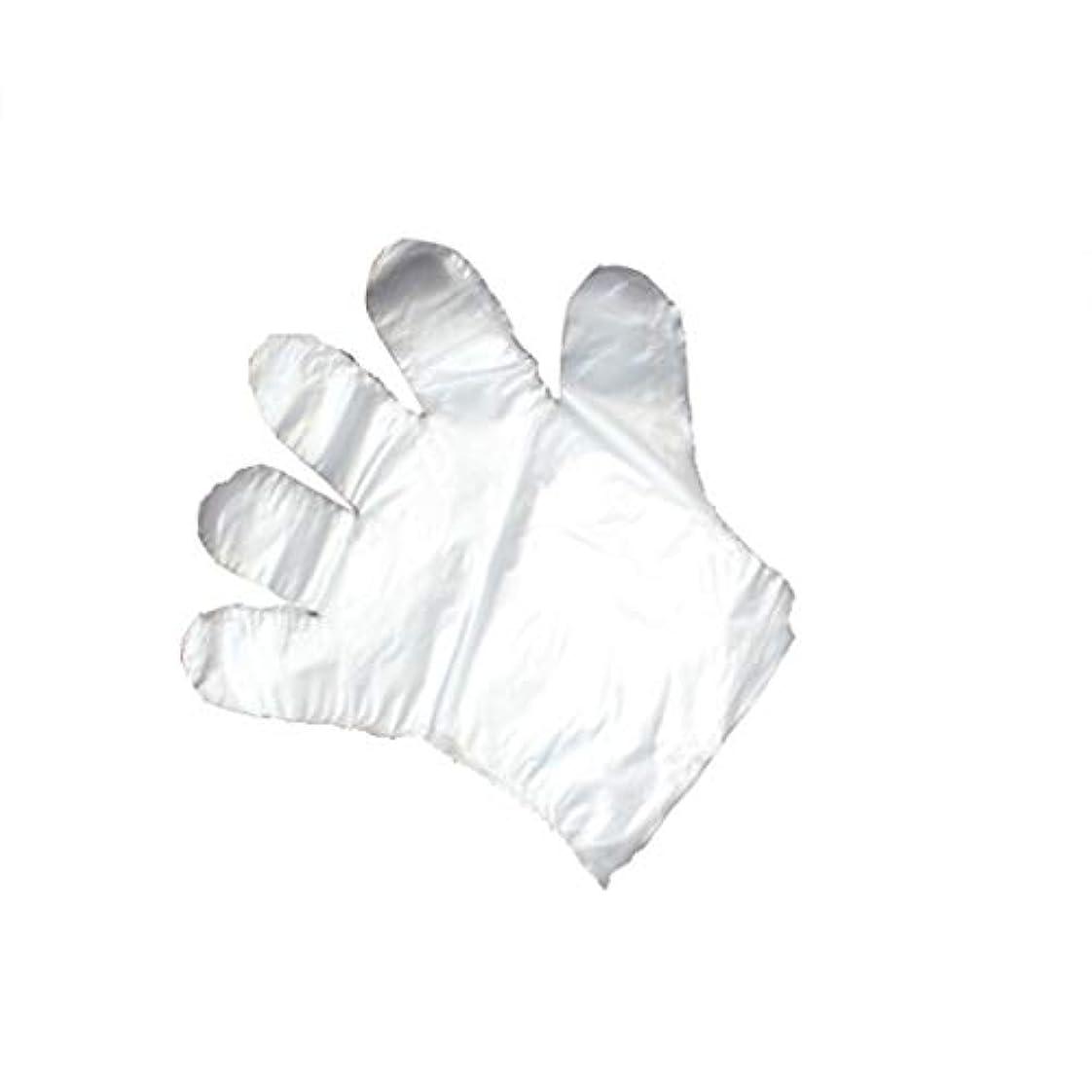 手袋、使い捨て手袋、透明な肥厚、美しさ、家庭掃除、手袋、白、透明、5パック、500袋。 (UnitCount : 1000)