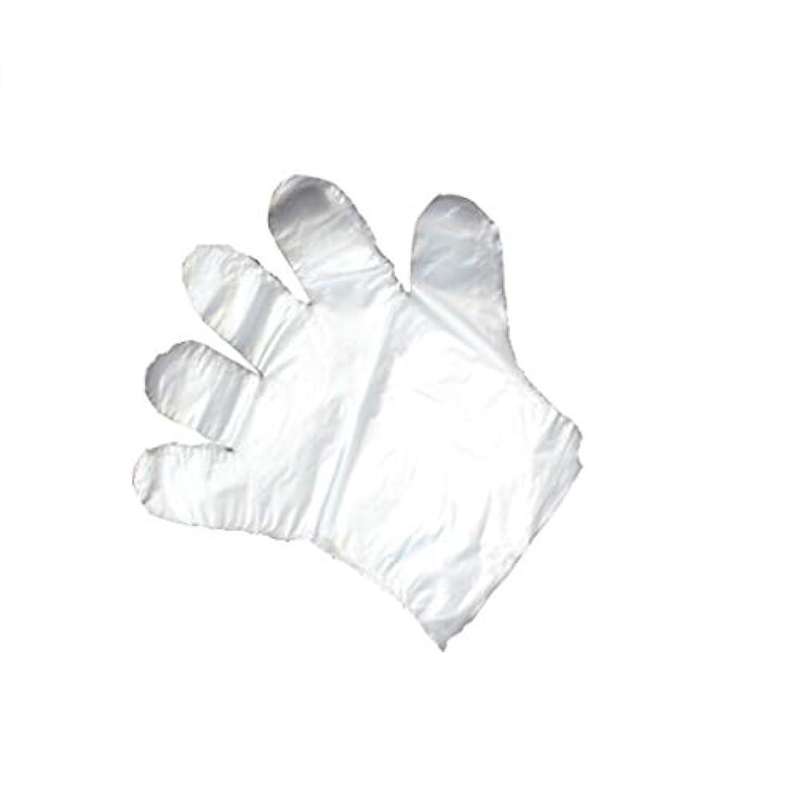 膨らみ絶滅させる気候手袋、使い捨て手袋、透明な肥厚、美しさ、家庭掃除、手袋、白、透明、5パック、500袋。 (UnitCount : 1000)