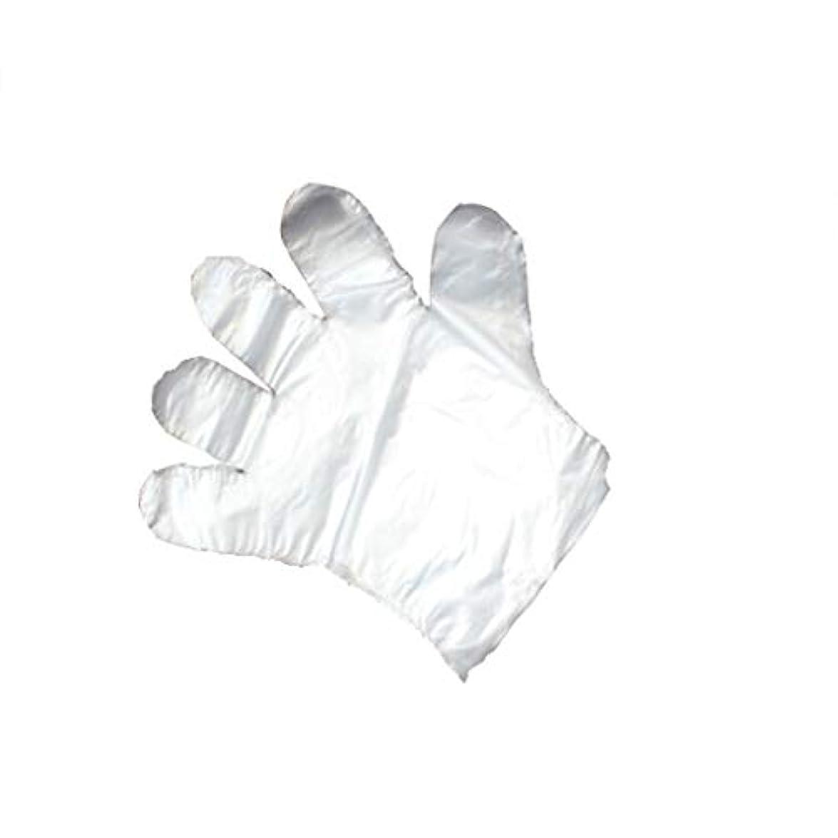 慈悲深いピッチャー輝く手袋、使い捨て手袋、透明な肥厚、美しさ、家庭掃除、手袋、白、透明、5パック、500袋。 (UnitCount : 1000)