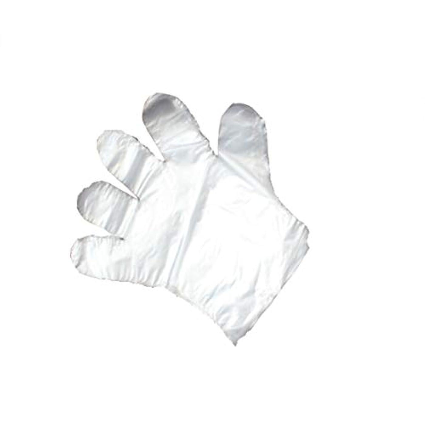 難民岩焦がす手袋、使い捨て手袋、透明な肥厚、美しさ、家庭掃除、手袋、白、透明、5パック、500袋。 (UnitCount : 1000)