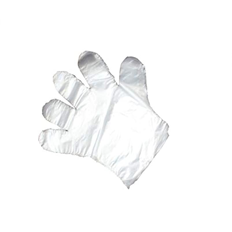 横たわる高度大学手袋、使い捨て手袋、透明な肥厚、美しさ、家庭掃除、手袋、白、透明、5パック、500袋。 (UnitCount : 1000)