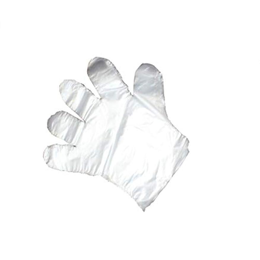 薬パレード嵐手袋、使い捨て手袋、透明な肥厚、美しさ、家庭掃除、手袋、白、透明、5パック、500袋。 (UnitCount : 1000)