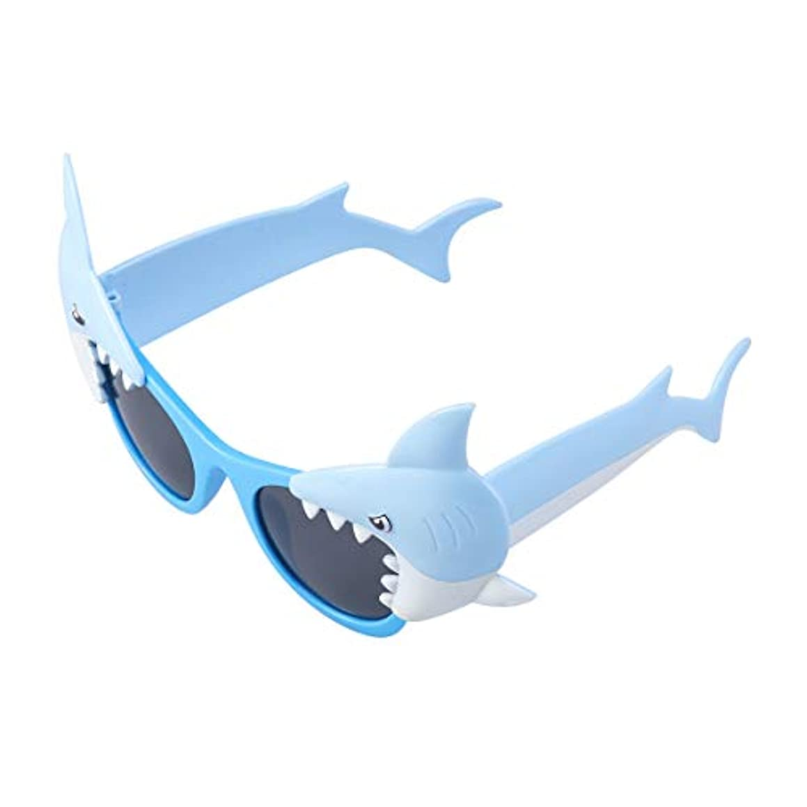 BESTOYARD パーティーサングラスサメの形ノベルティおかしい眼鏡用仮装トリックパーティーコスチューム小道具