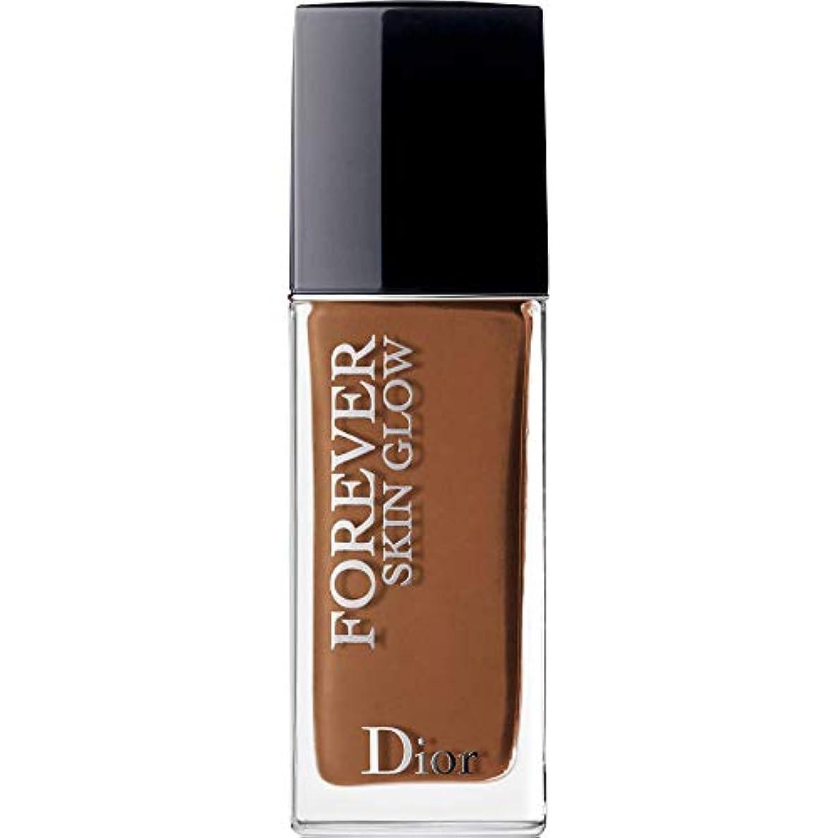 額間欠急速な[Dior ] ディオール永遠に皮膚グロー皮膚思いやりの基礎Spf35 30ミリリットルの8N - ニュートラル(肌の輝き) - DIOR Forever Skin Glow Skin-Caring Foundation...
