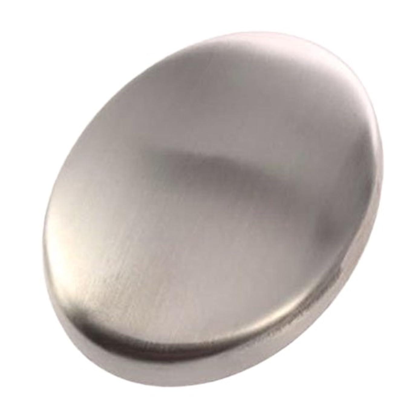 ズーム噴火歩道Zafina ステンレスソープ 円形 においとりソープ 臭い取り ステンレス石鹸