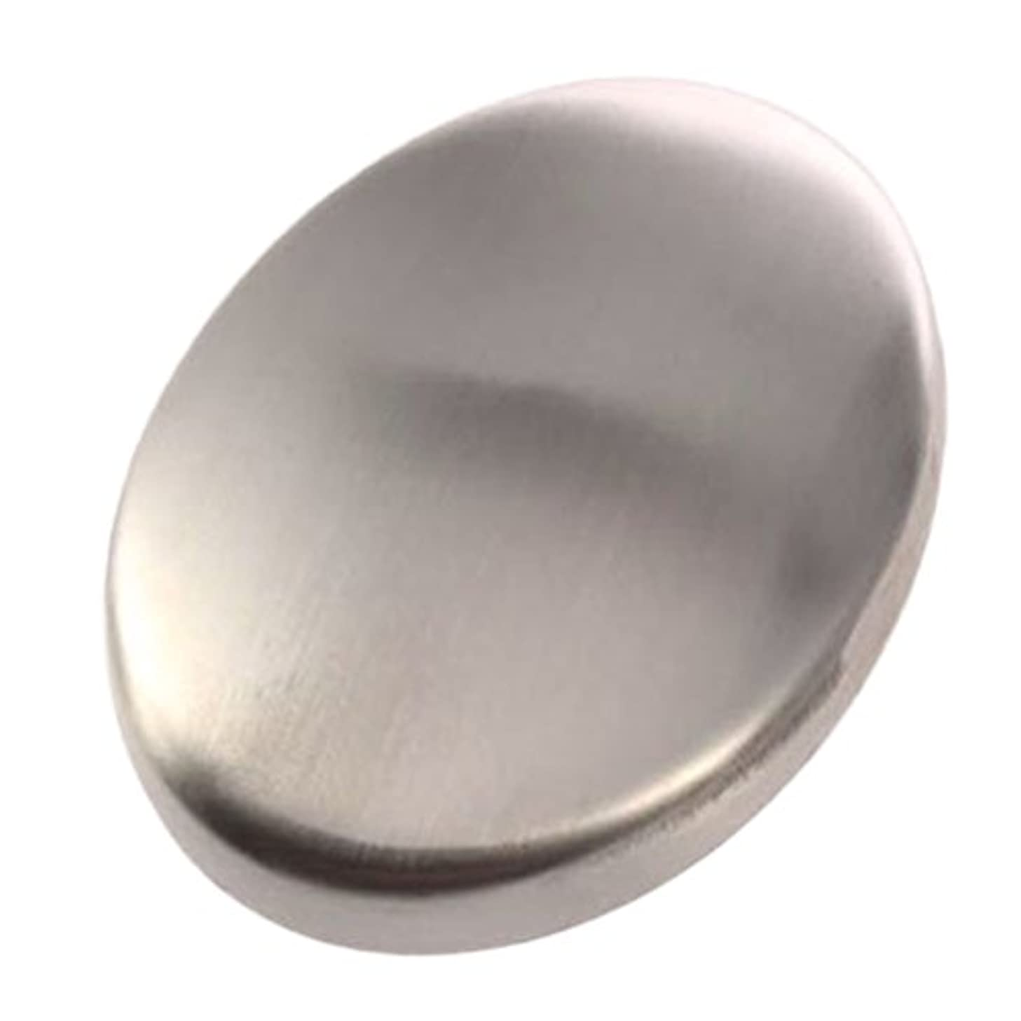 杭童謡市長Zafina ステンレスソープ 円形 においとりソープ 臭い取り ステンレス石鹸