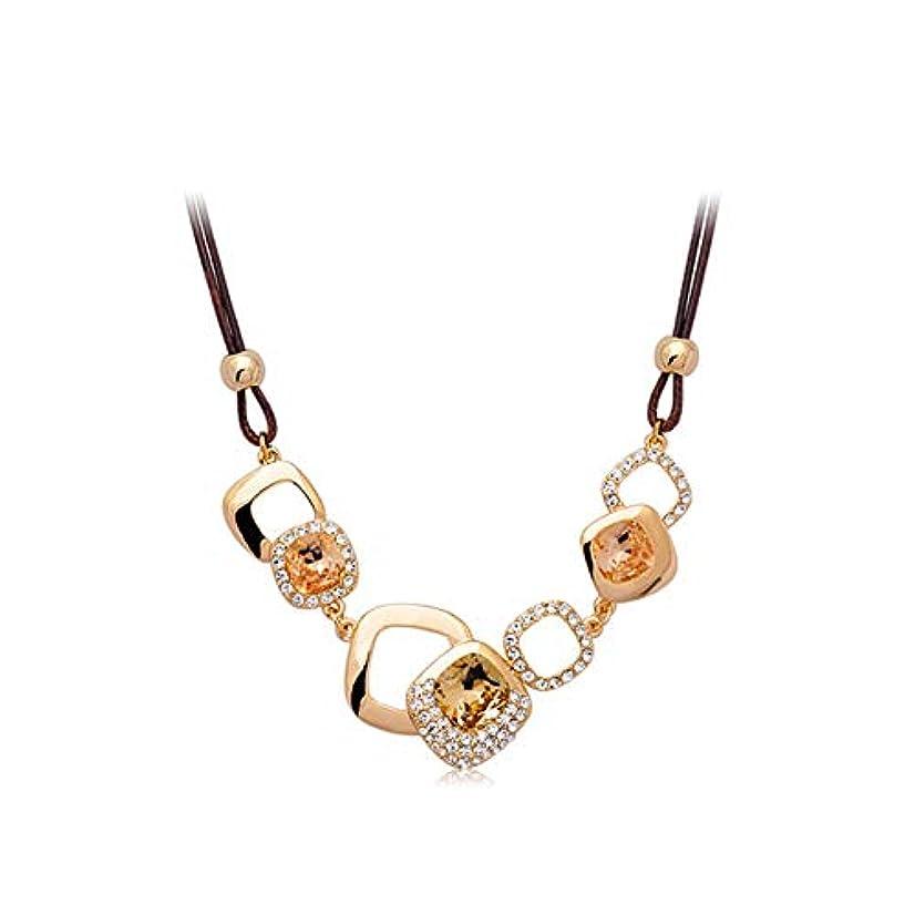 国際軸ローマ人トレンディな輝く絶妙な鎖骨チェーン、シンプルなスクエア気質エレガントなレトロなファッション装飾的な短いセーターチェーン