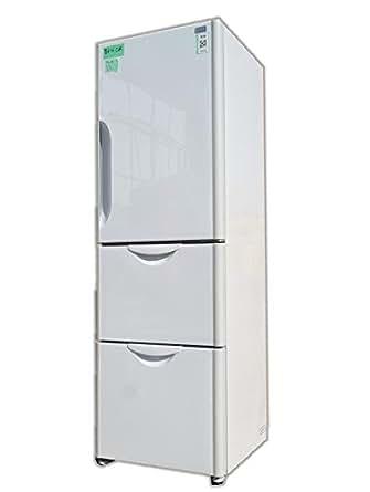 【R-S30AMV-W】 日立 3ドア冷凍冷蔵庫 インバーター制御スリムコンパクト [302L]