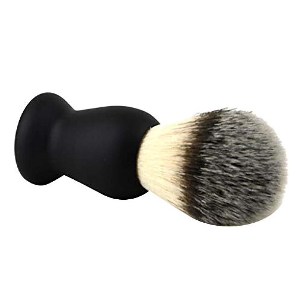 化粧保持するウェイトレスシェービングブラシ メンズ ひげブラシ 剃毛ブラシ ABSハンドル+ナイロン 泡立て 散髪整理