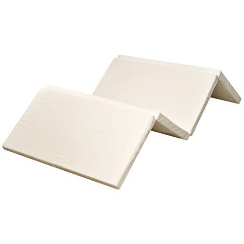 日本製 高反発マットレス 四つ折りタイプ 厚さ5cm シングル [密度24D / 硬さ150N] コンパクト収納 持ち運び 来客用