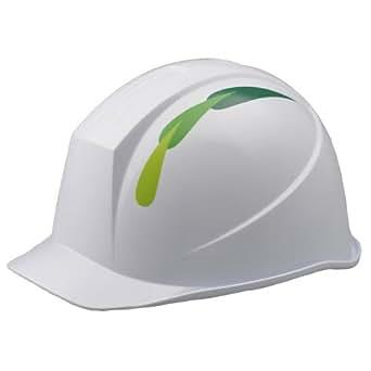 ミドリ安全 デザイン ヘルメット レインガード 脱げ防止機構 リーフ&ホワイト