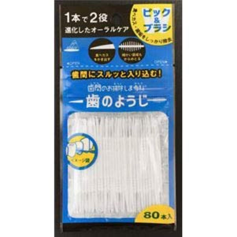 (まとめ)アヌシ OB-807 歯間のお掃除しま専科 歯のようじ80本入 【×5点セット】