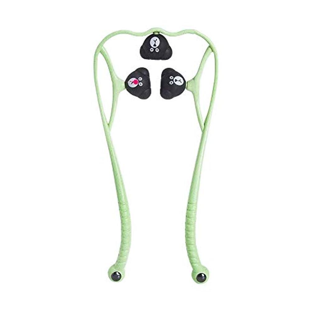 上へケーブルカー非難する手動頚椎マッサージ器肩頸マッサージボールの痛み解消用品