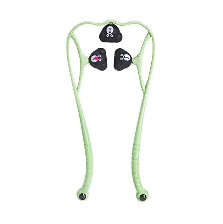 粘り強いスーツ精神的に手動頚椎マッサージ器肩頸マッサージボールの痛み解消用品