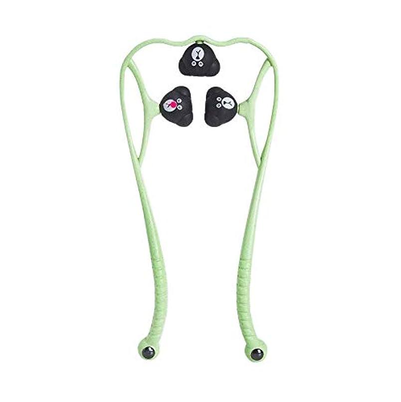 ペンフレンド平和的実り多い手動頚椎マッサージ器肩頸マッサージボールの痛み解消用品