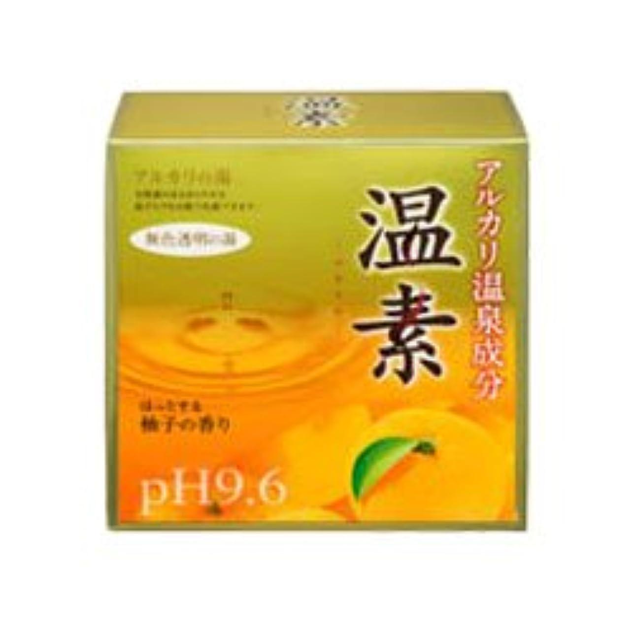 電卓若さ適応する【アース製薬】温素 柚子の香り 30g×15包 ×10個セット