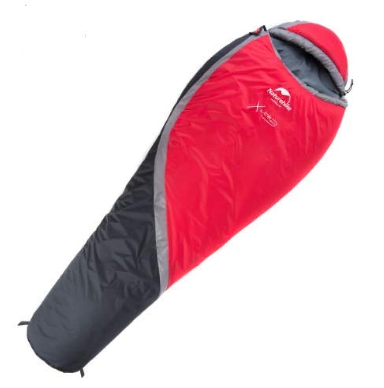 電気の植物学者スポーツ屋外の冬の厚い暖かいミイラキャンプキャンプシングル寝袋-5度
