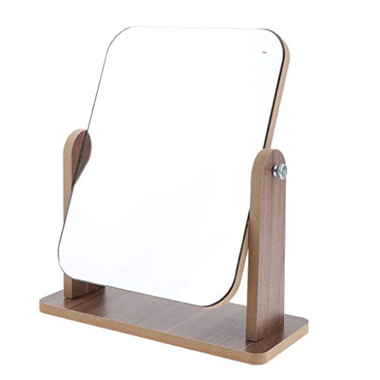 試用抹消トレイルSharplace 全3サイズ 卓上化粧鏡 フェイスケアツール 高精細 木製フレーム 自立型 鏡 デスクトップ - 大