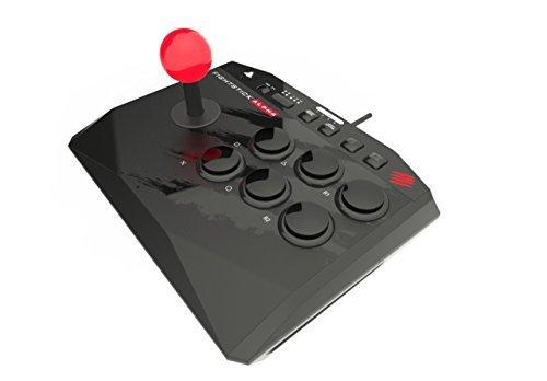 マッドキャッツ アーケード ファイトスティック アルファ Alpha (PlayStation3 / PlayStation4) (MCS-FS-MC-ALP) 本体重量675g 本体幅21cm 軽量 コンパクト 30mm 標準サイズボタン 35Φ レバーボール 6ボタン SFレイアウト LEDライトバー搭載