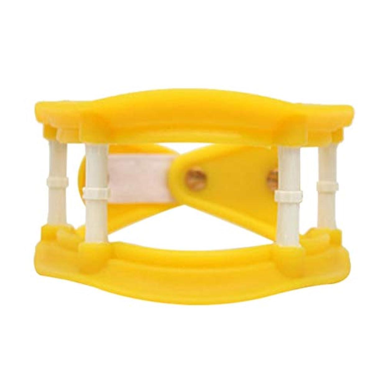 フォーカス喜ぶ北東Healifty 首の牽引通気性の首サポートブレース調整可能な首のつばの首の痛みを軽減します傷害回復(黄色)