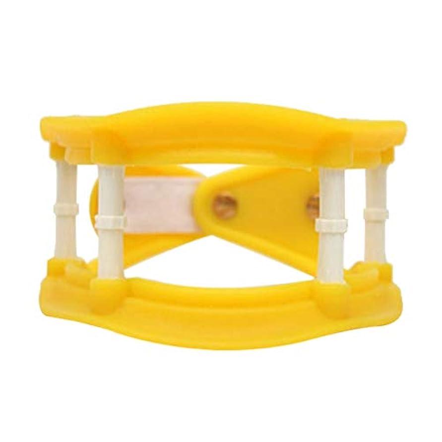 一瞬ハイブリッドスペルHealifty 首の牽引通気性の首サポートブレース調整可能な首のつばの首の痛みを軽減します傷害回復(黄色)
