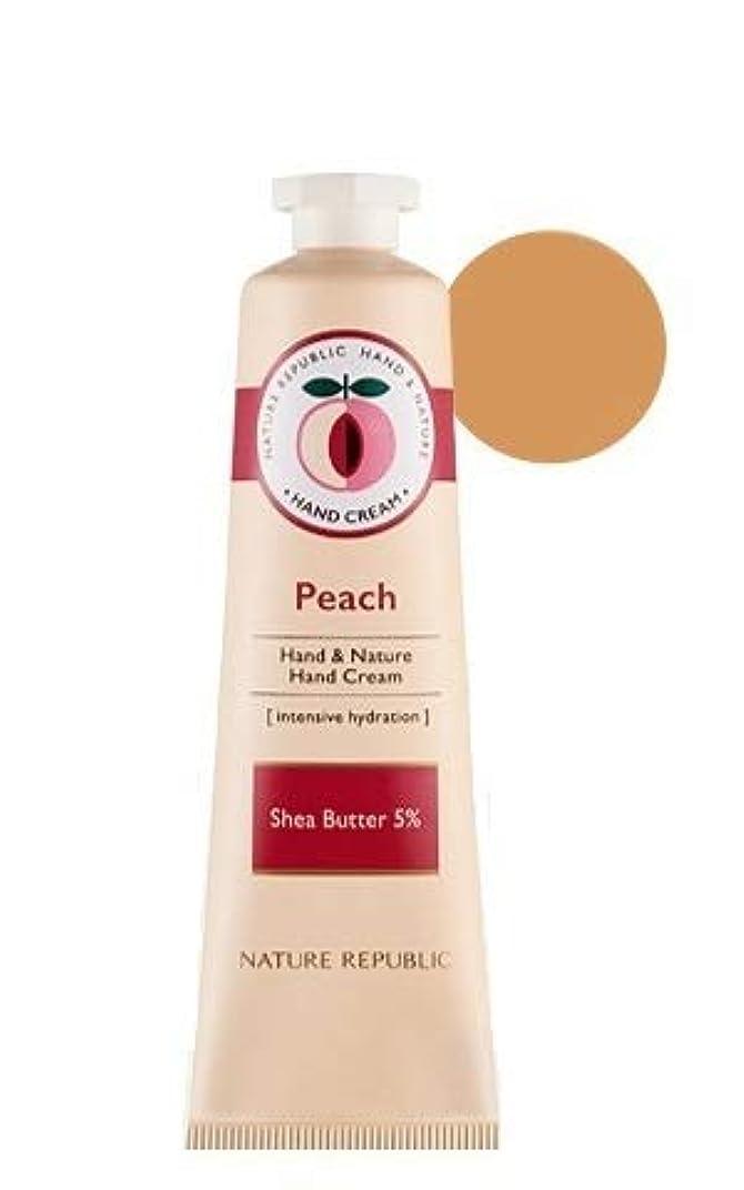 尋ねるシロクマ報酬[1+1]ネイチャーリパブリック NATURE REPUBLIC ハンドアンドネイチャーハンドクリーム Hand & Nature Hand Cream (# PEACH) [並行輸入品]