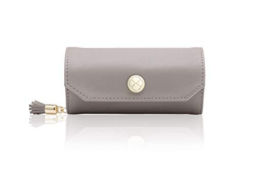 Vlando アクセサリーバッグ小柄携帯旅行外出のイヤリング ネックレス 腕時計 化粧品 お釣り収納バッグ-グレー