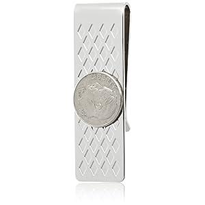 [フカシロ] マネークリップ ダイヤ 10セントコイン シルバー