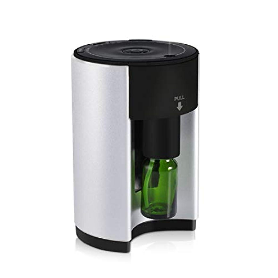 花輪スカルク下手アロマディフューザー アロマバーナー アロマ芳香器 ネブライザー式 人気 香り 小型 コンパクト 軽量 アロマオイル うるおい 専用ボトル付 タイマー付き ヨガ室 ホテル 広範囲適用