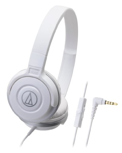 audio-technica STREET MONITORING 密閉型オンイヤーヘッドホン スマートフォン用 ポータブル ホワイト ATH-S100iS WH
