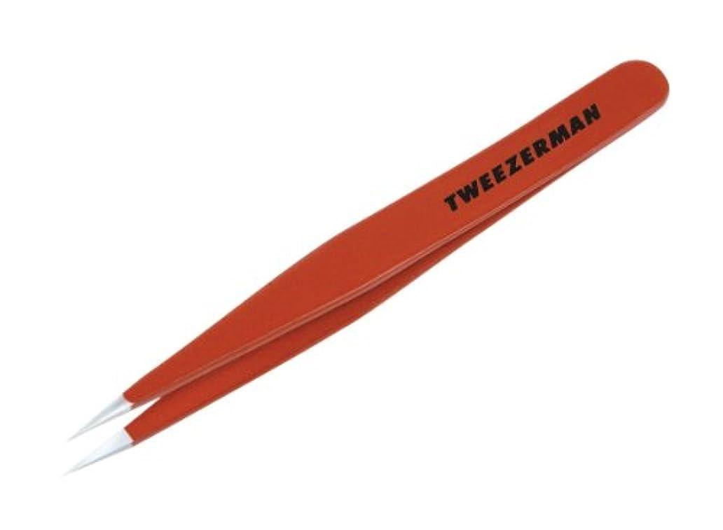 減る保持する非難TWEEZERMAN ポイント ツイーザー レッド 58400-089