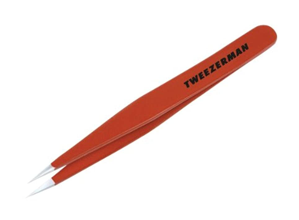 TWEEZERMAN ポイント ツイーザー レッド 58400-089