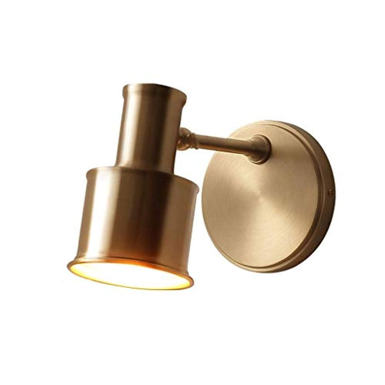 しばしば欠席退却ZHJXQ 銅壁ランプ、銅の壁取り付け用燭台、調節可能なウォールライト器具、ベッドサイドの照明のためのハードワイヤードスイングアーム壁ランプ