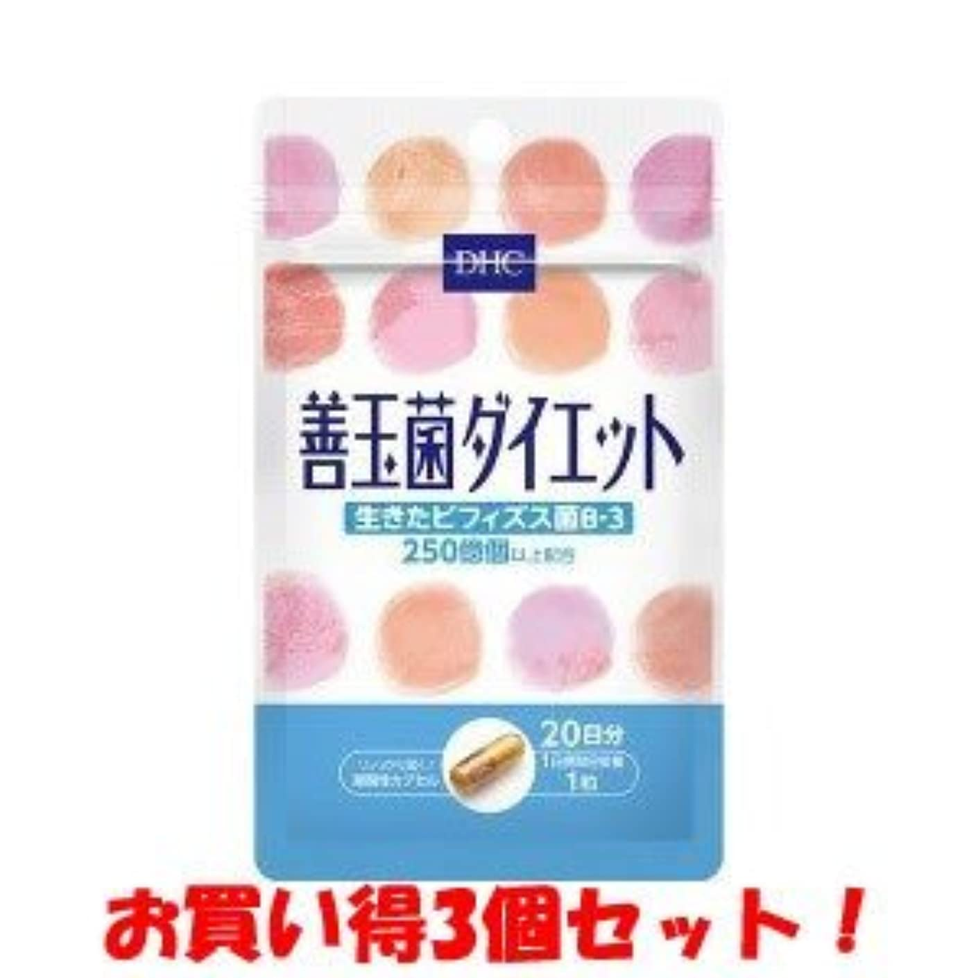 昼間写真撮影不実DHC 20日善玉菌ダイエット 6.9g/新商品/(お買い得3個セット)