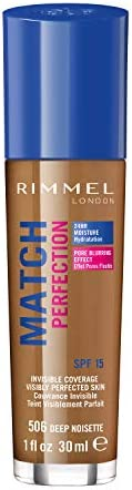 Rimmel London Match Perfection Foundation 30mL - Deep Noisette #506
