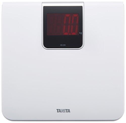 タニタ 体重計 デジタル 大画面 LED ホワイト HD-395 WH 乗るだけで電源オン