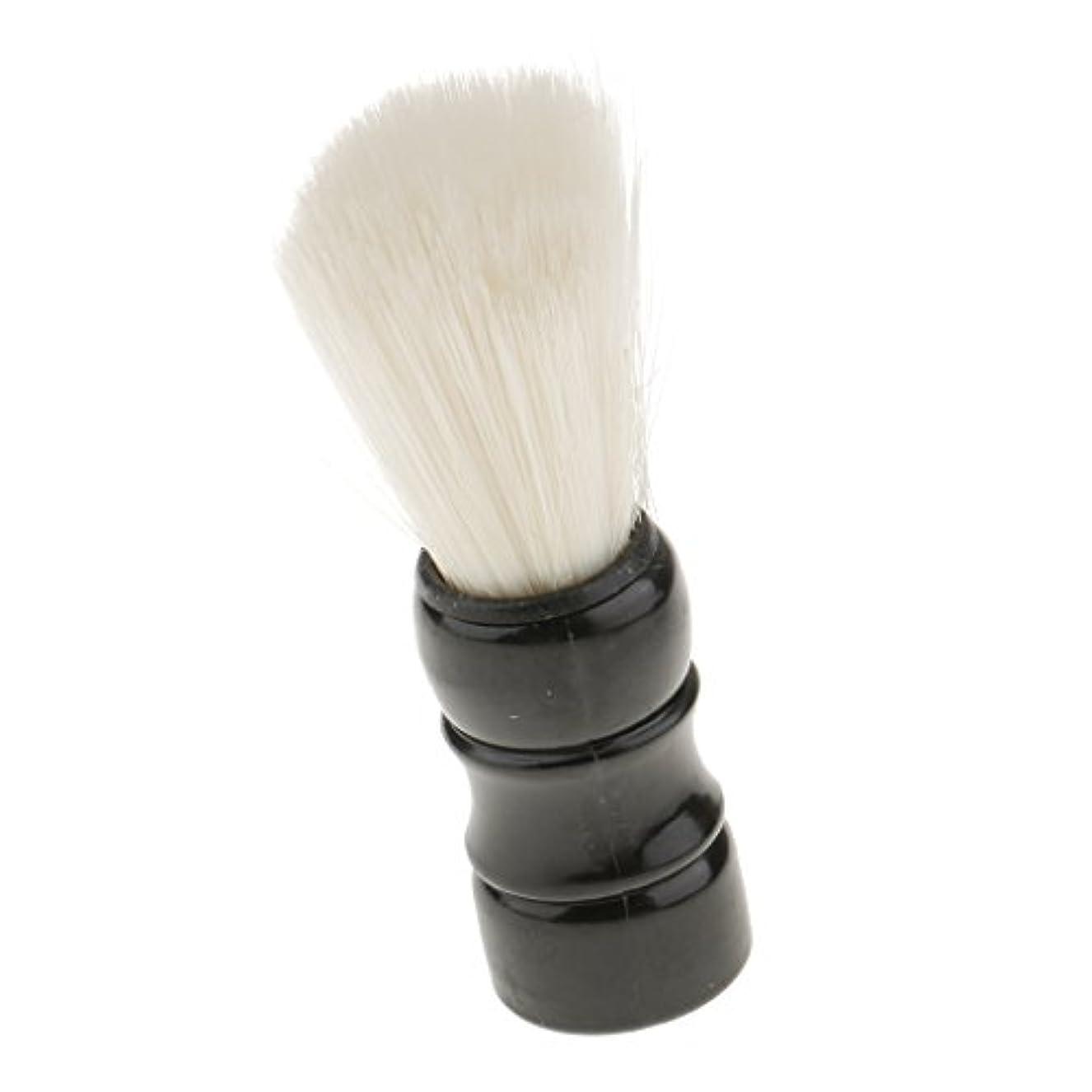 のホストケーブル疲れたSONONIA 男性に適用 プロ サロン 理髪 シェービングブラシ ひげ 口ひげ ブラシ 全2色 - ブラック, 9.5cm