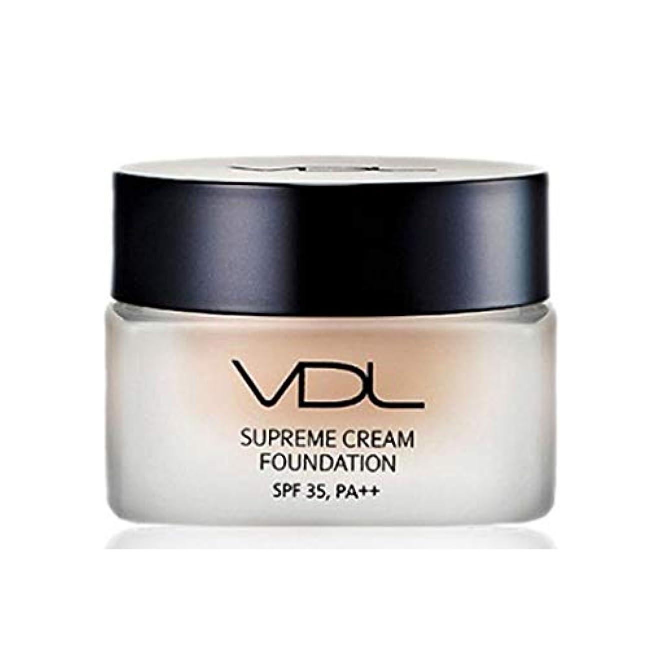 忌避剤日付付き扇動VDLスプリームクリームファンデーション30ml SPF35 PA++ 4色、VDL Supreme Cream Foundation 30ml SPF35 PA++ 4 Colors [並行輸入品] (A02)