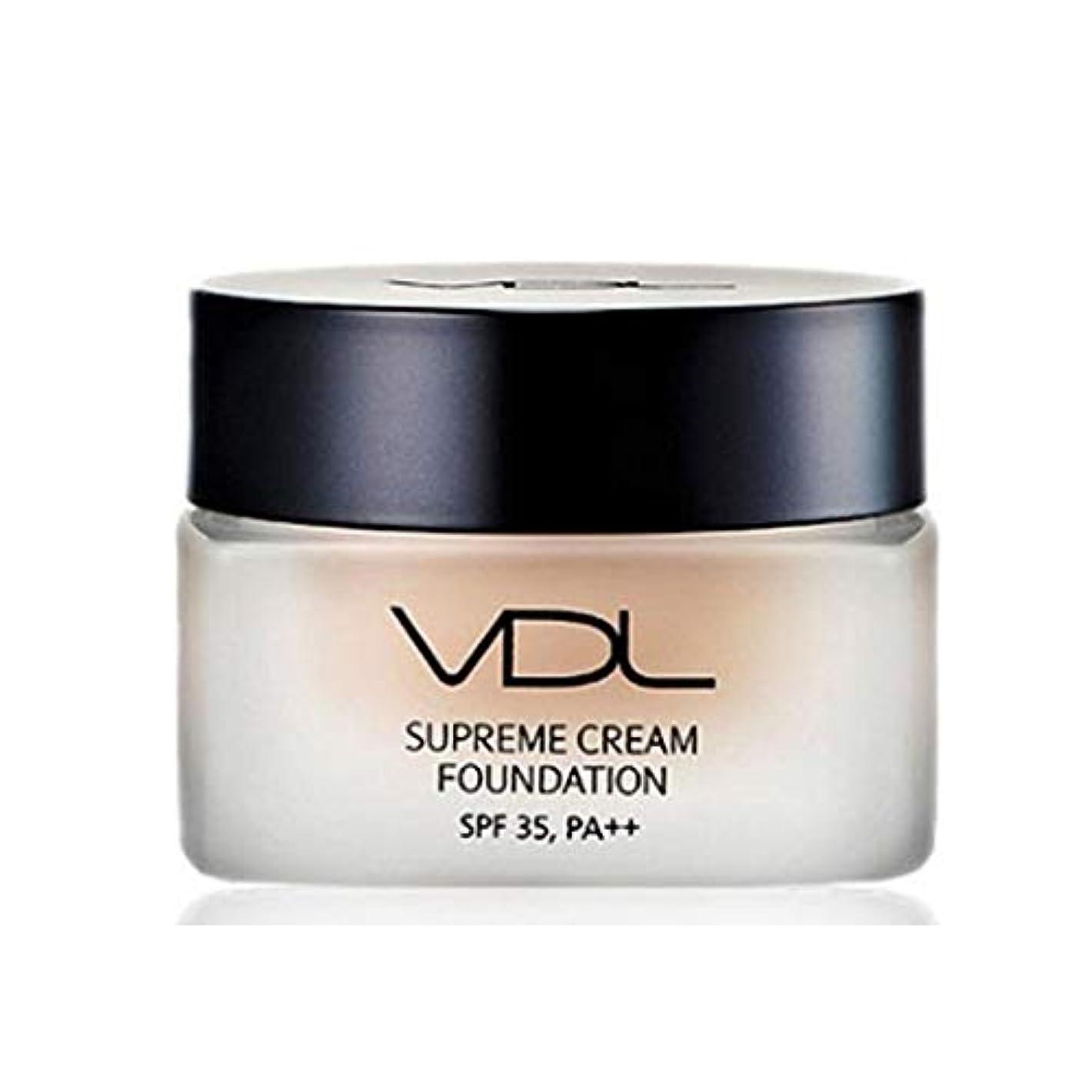 足首呪われた比喩VDLスプリームクリームファンデーション30ml SPF35 PA++ 4色、VDL Supreme Cream Foundation 30ml SPF35 PA++ 4 Colors [並行輸入品] (A02)