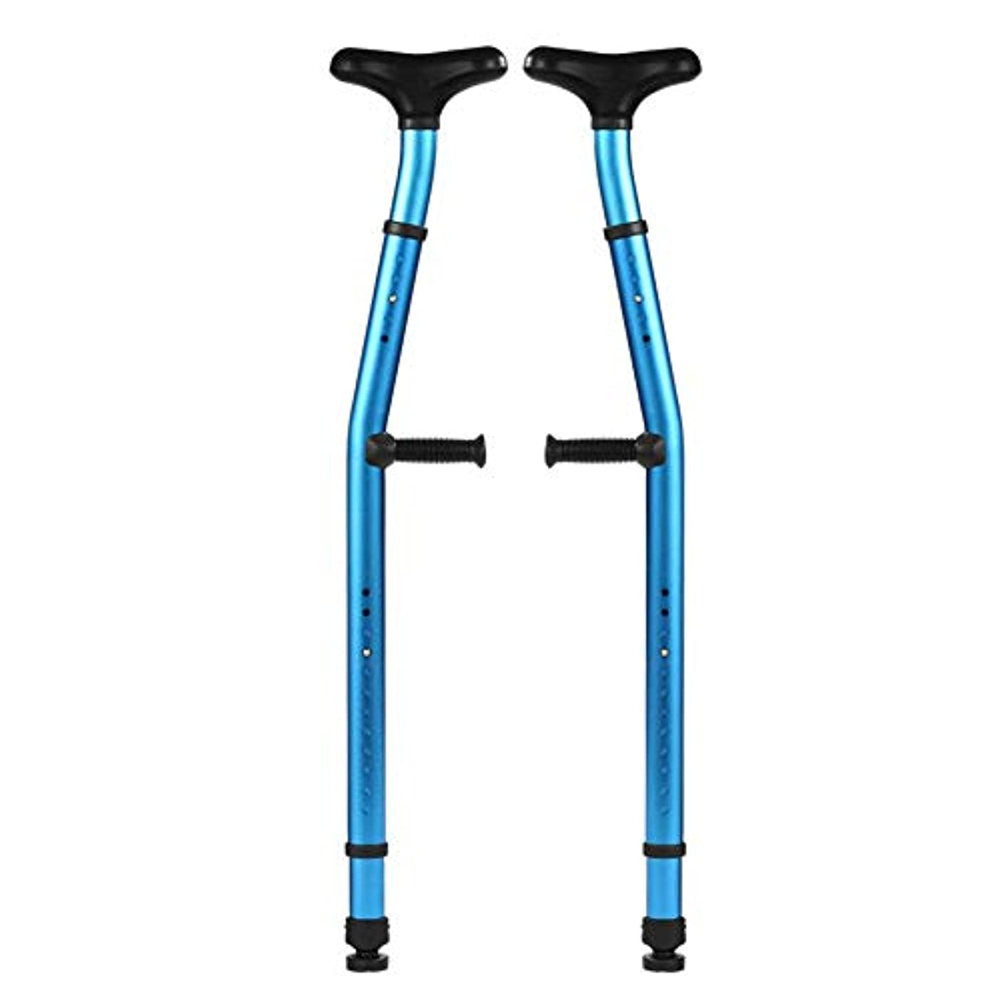 噴水一時停止段落脇の下の松葉杖(1ペア)人間工学に基づいた松葉杖脇の下の十字形骨折医療の高さ調節可能な滑り止め大人の子供身体障害者用スティックアーム合金増加した滑り止めマット
