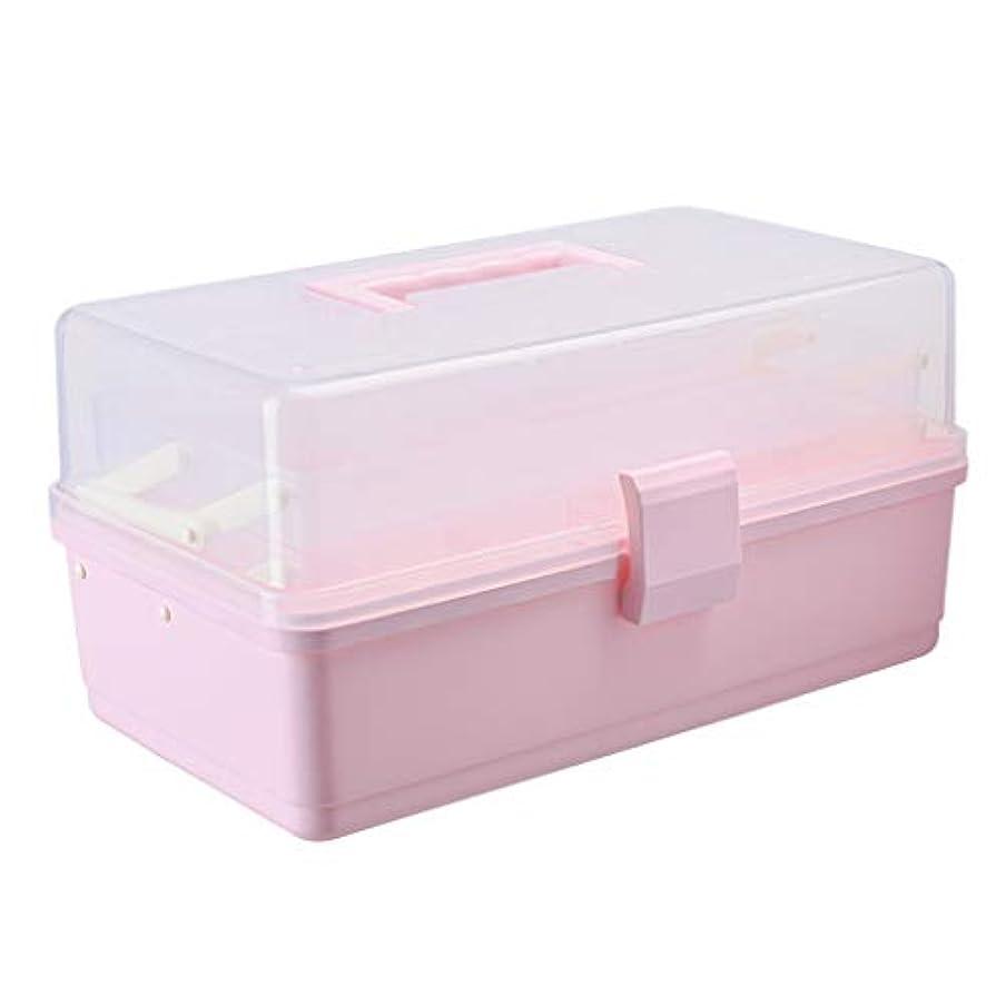 アサートスイッチタウポ湖ピルボックスPP 34 * 20.5 * 17 cm家庭用薬ボックス薬収納ボックス (色 : ピンク)